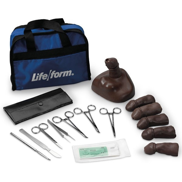 Teen (13-14 Y.o.) Circumcision Training Kit; Black - A-104806 - Simulators & Trainers Clinical & Nursing Skills Trainers Injection Trainers A-104806